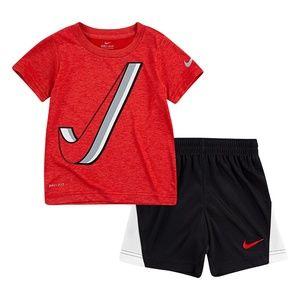 Nike boy dri-fit shorts set
